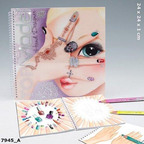 depesche top model  album de coloriage mains  comparer