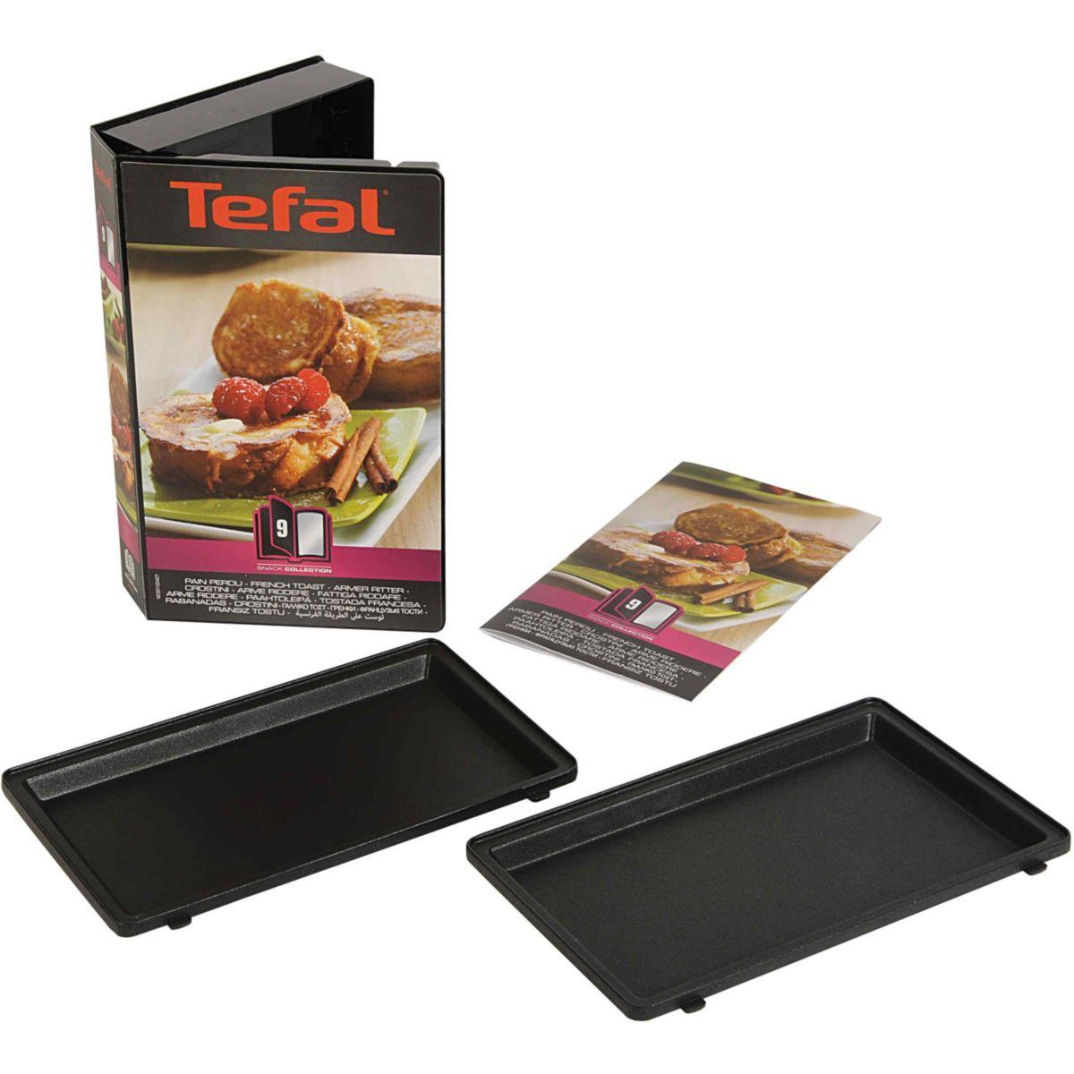 Tefal coffret de plaque pour pain perdu avec livre de recettes comparer avec - Plaque tefal snack collection ...