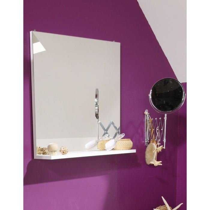 miroir de salle de bain slash avec 1 tablette comparer avec. Black Bedroom Furniture Sets. Home Design Ideas
