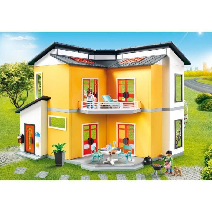 Playmobil 9266 city life villa moderne comparer avec for Villa moderne prix