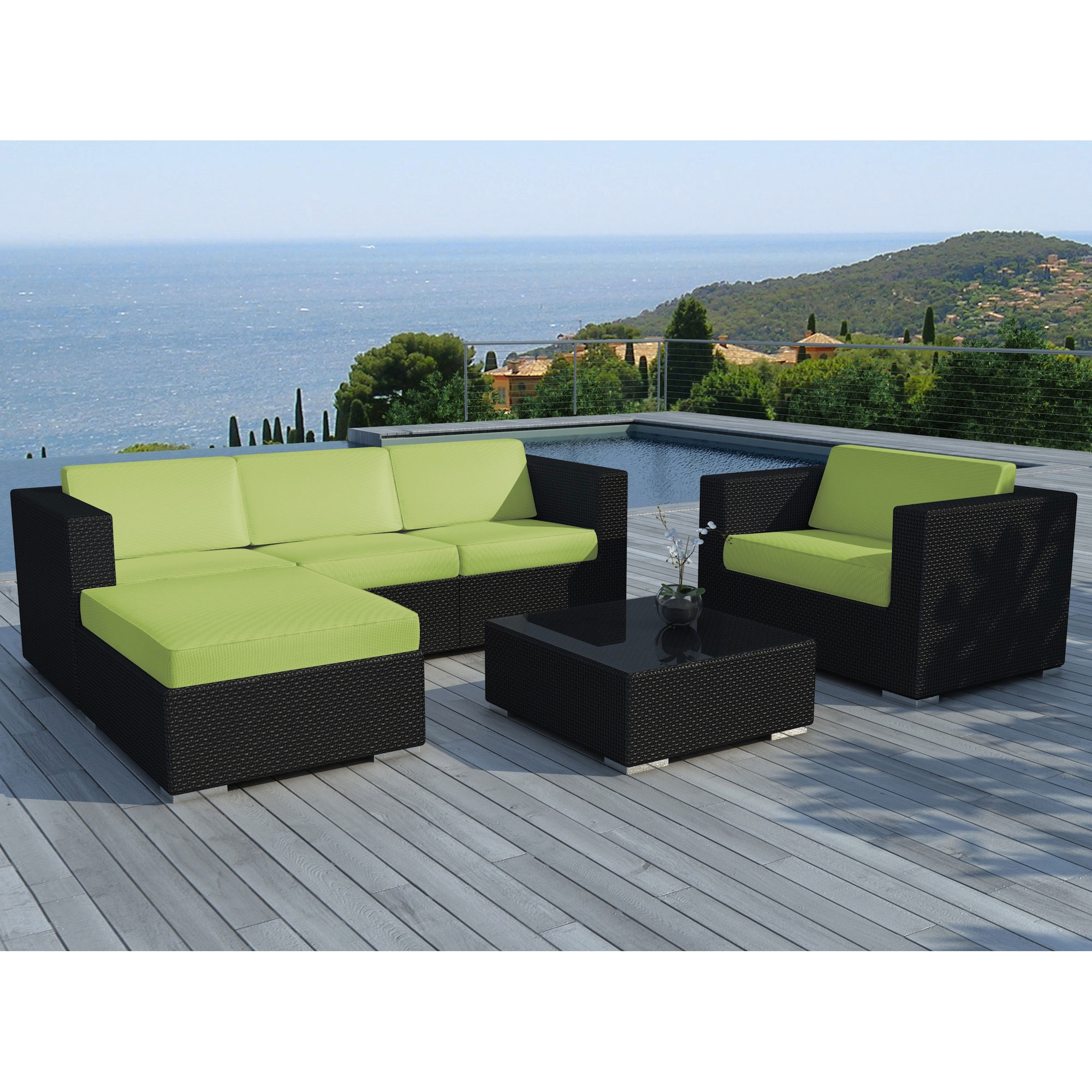 delorm design sd8201 salon de jardin amalys en r sine tress e comparer avec. Black Bedroom Furniture Sets. Home Design Ideas