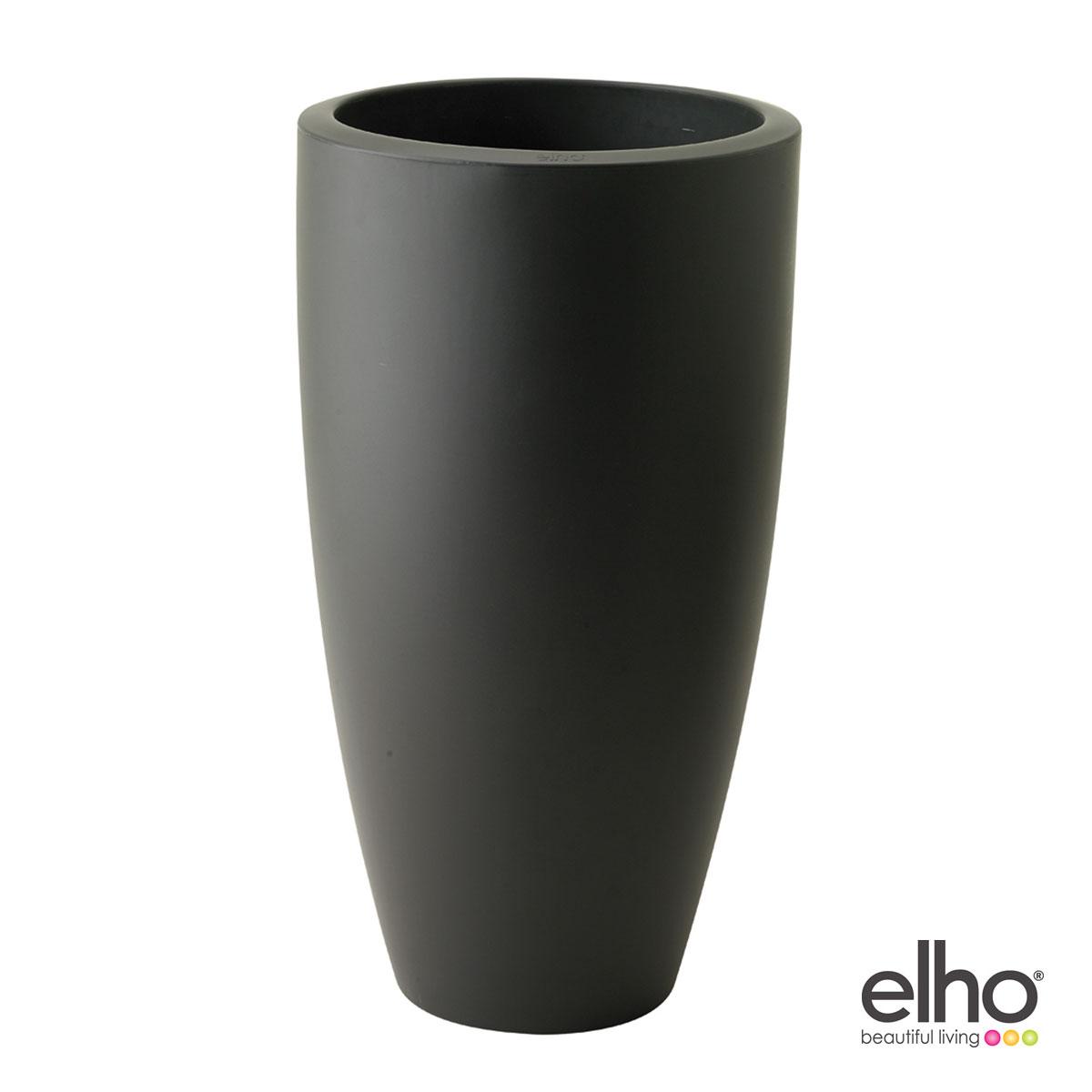 Elho Pure Soft Round High 35 - Pot de fleurs rond haut Ø35 x 62 cm