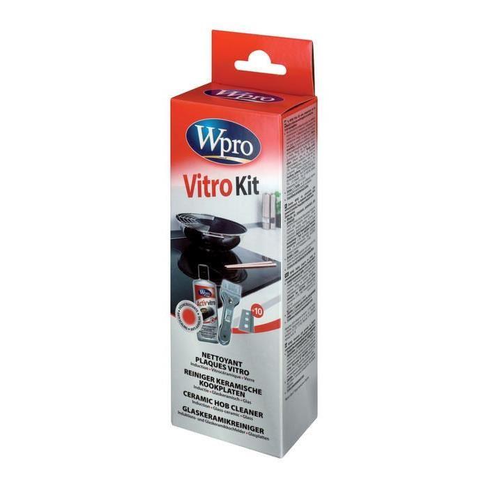wpro kvt001 kit de nettoyage plaques vitroc ramiques. Black Bedroom Furniture Sets. Home Design Ideas