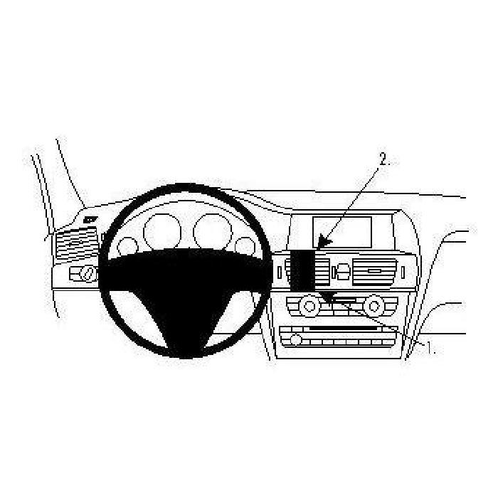 Proscan Automotive OBD Auto 38 Pin a OBDII 16 Pin Cavo Adattatore connettore 3 Pin Passante per W124 W202 S202 ECC