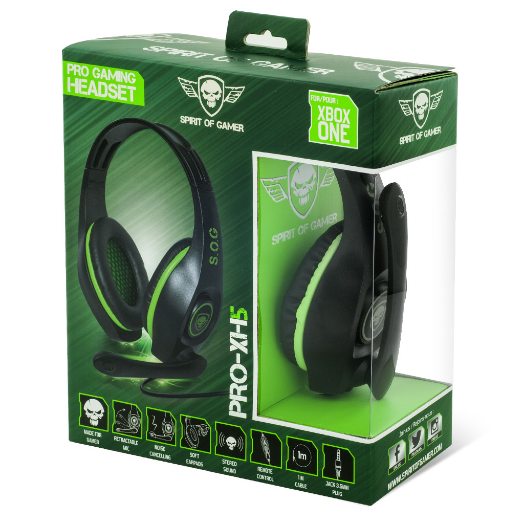 Spirit Of Gamer Pro Xh5 Micro Casque Gamer Xbox One Comparer