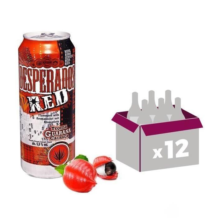 Desperados Biere Aromatisee Red 5 9 Vol La Canette De 50cl Comparer Avec Touslesprix Com