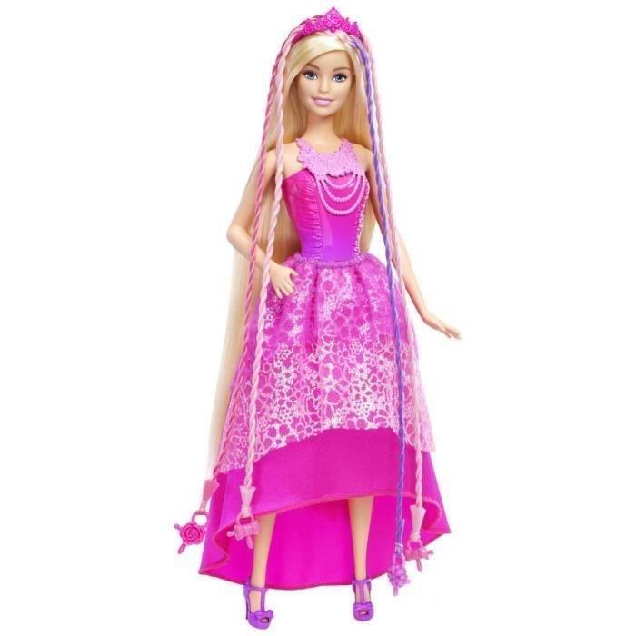 mattel barbie princesse tresse magique comparer avec