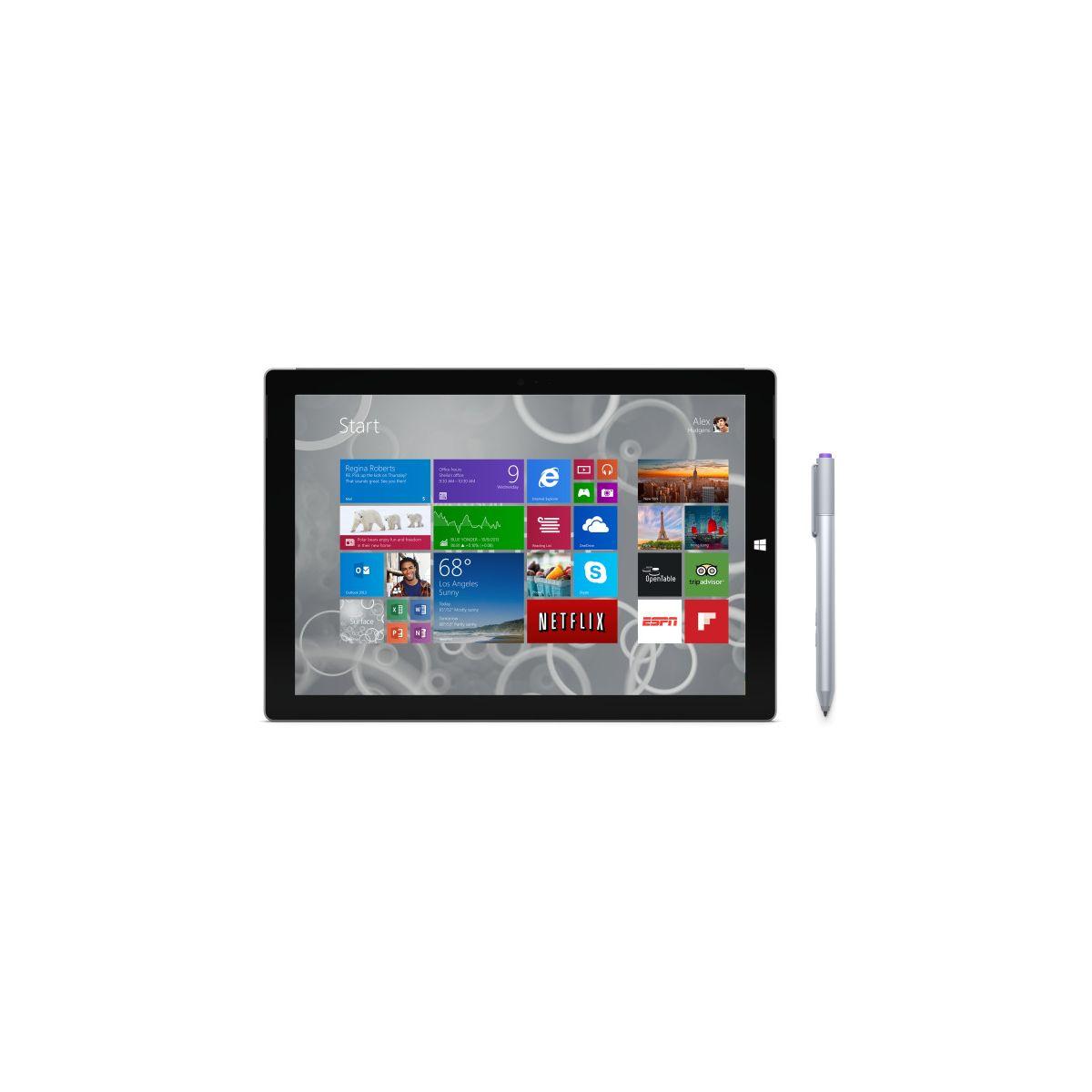 microsoft surface pro 3 128 go core i5 tablette tactile 12 sous windows 8 1 10 pro. Black Bedroom Furniture Sets. Home Design Ideas