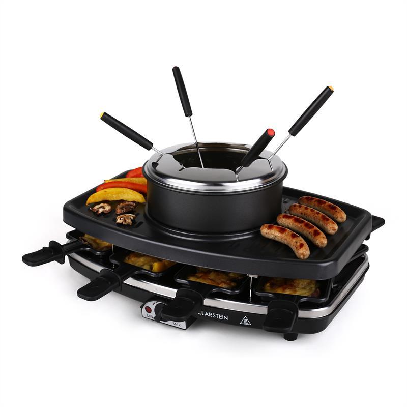 klarstein gq6 appareil grill raclette fondue pour 8 personnes comparer avec. Black Bedroom Furniture Sets. Home Design Ideas