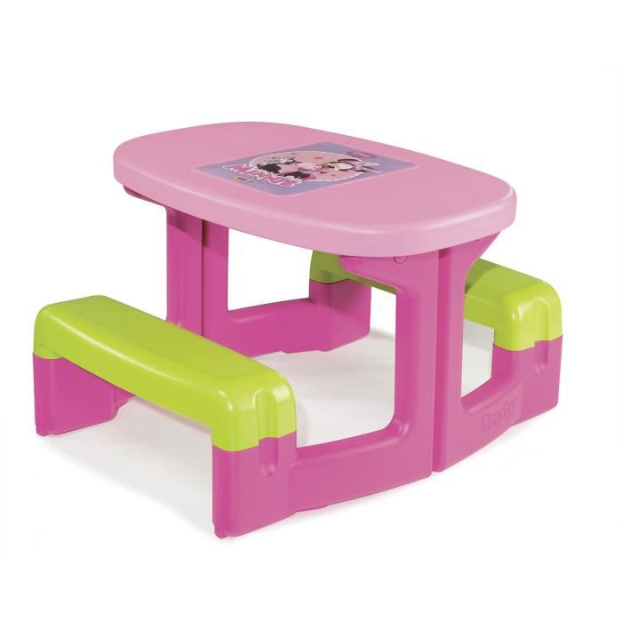 smoby table pic nic minnie comparer avec. Black Bedroom Furniture Sets. Home Design Ideas