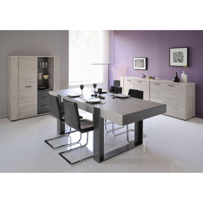 Parisot Table A Manger Moderne Loft En Chene Comparer Avec