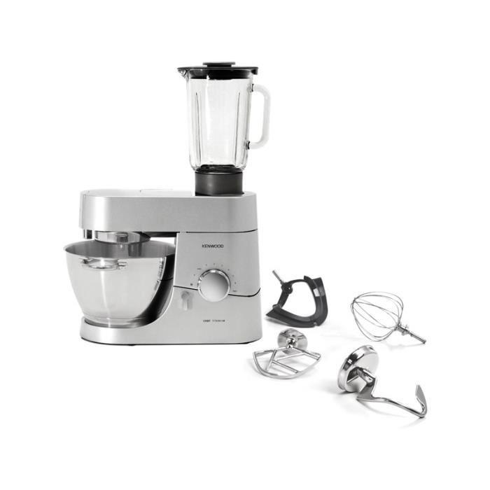 Kenwood kmc010 robot chef titanium comparer avec for Robot de cocina chef titanium
