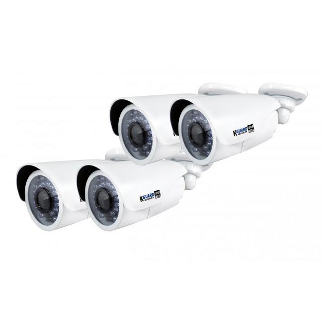 kguard security hd481 4wa813f kit de surveillance tout en un nvr 6 channels avec 4 cam ras. Black Bedroom Furniture Sets. Home Design Ideas