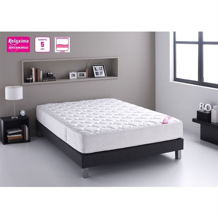 dunlopillo relaxima ensemble sommier et matelas 160 x 200 cm comparer avec. Black Bedroom Furniture Sets. Home Design Ideas