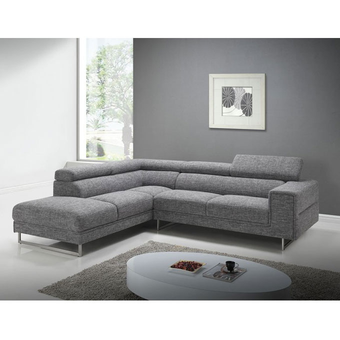 Canapé d angle droite Street en tissu parer avec Touslesprix