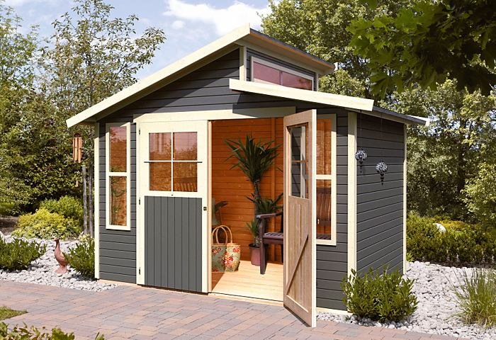 Karibu grafenau 6 abri de jardin en bois 19 mm 6 14 m2 for Jardin prix m2