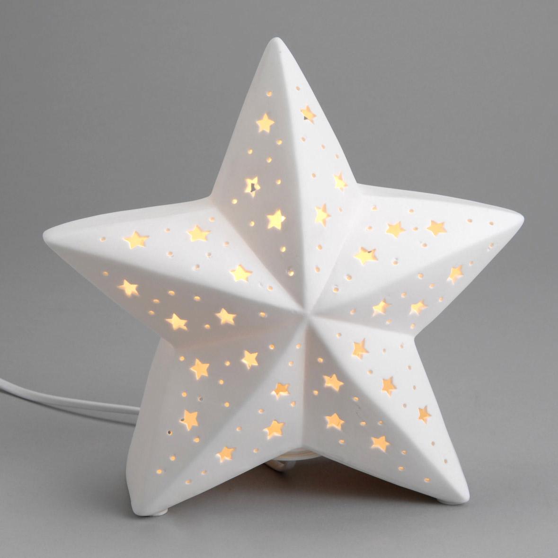 Amadeus Lampe A Poser Etoile En Porcelaine Ajouree Comparer Avec
