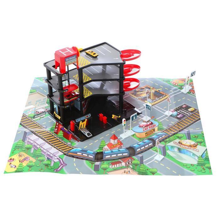 Garage tapis de jeu et 3 v hicules comparer avec for Comparateur de prix garage