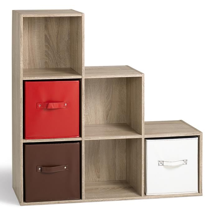 Cube de rangement escalier Compo 6 cases - Comparer avec Touslesprix.com