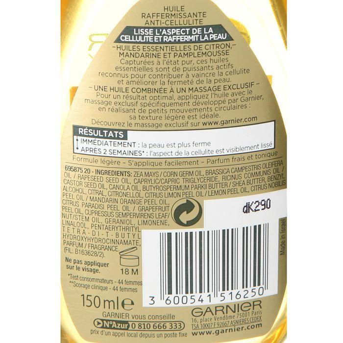 Garnier BodyTonic - Huile raffermissante anti-cellulite - Comparer ... 84b8a2199b3f9