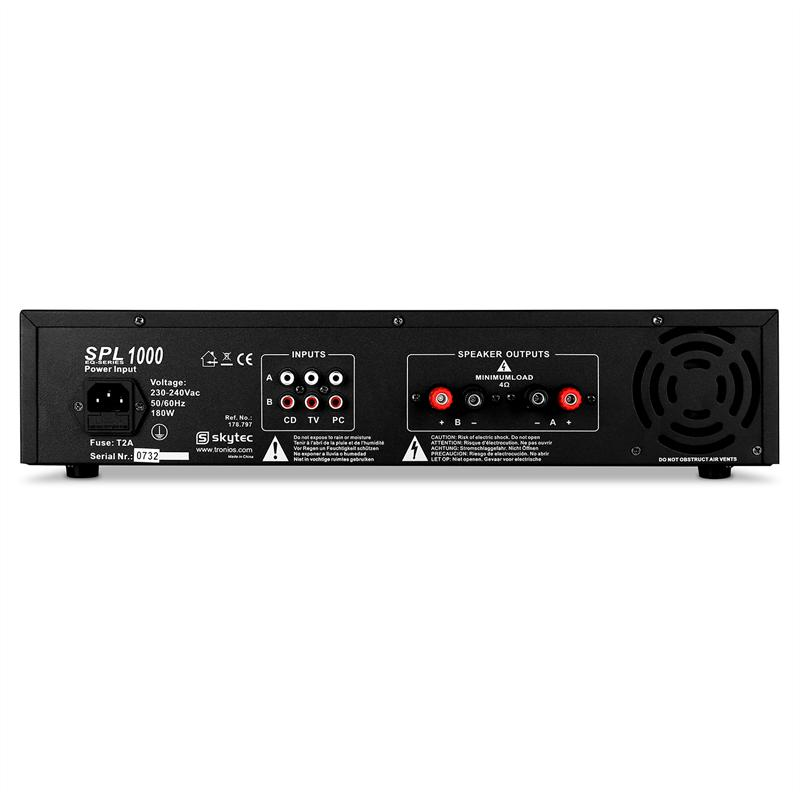 skytec spl1000eq amplificateur 2800w comparer avec. Black Bedroom Furniture Sets. Home Design Ideas