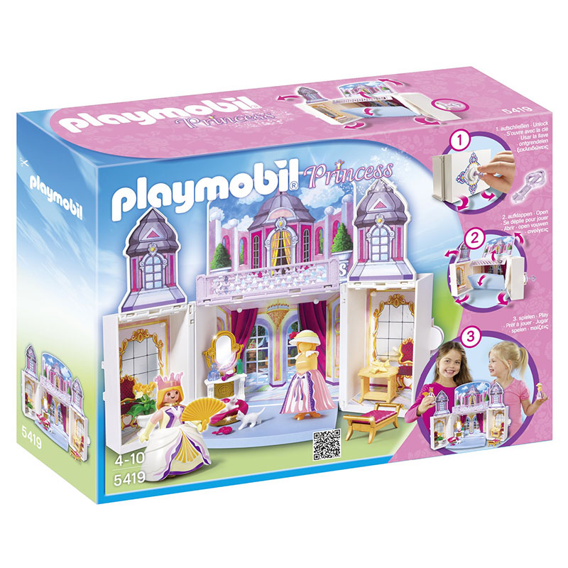 Playmobil 5419 Princess - Château de princesses transportable ...