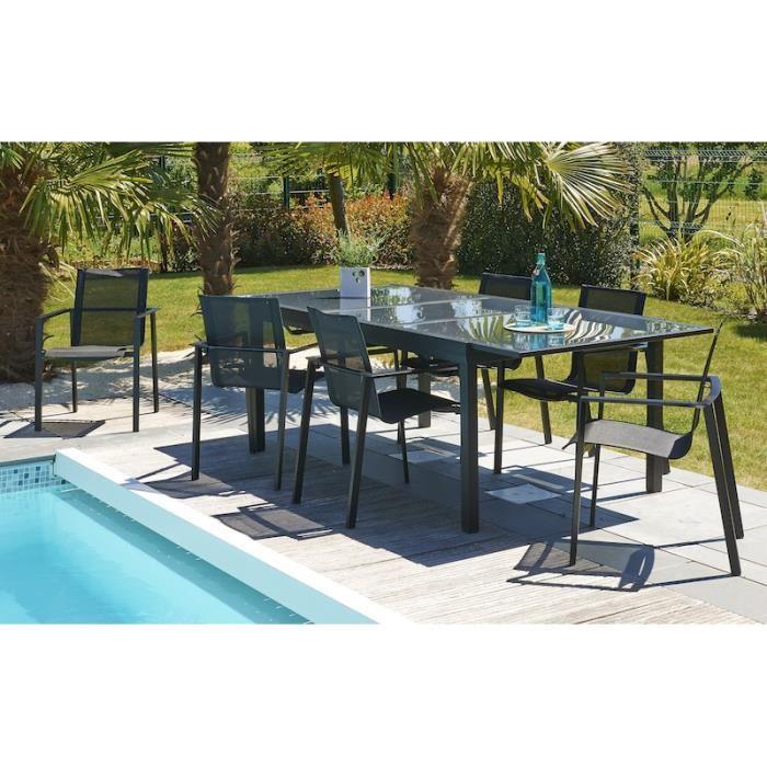 Salon De Jardin Tout Aluminium. Table De Jardin Vert Anis Table De ...
