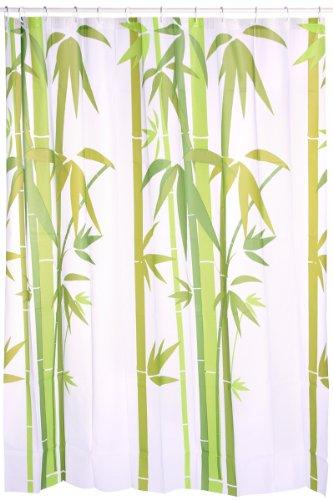 Ideko rideau de douche peva bambou en poly thyl ne 180 x - Rideau de douche bambou ...