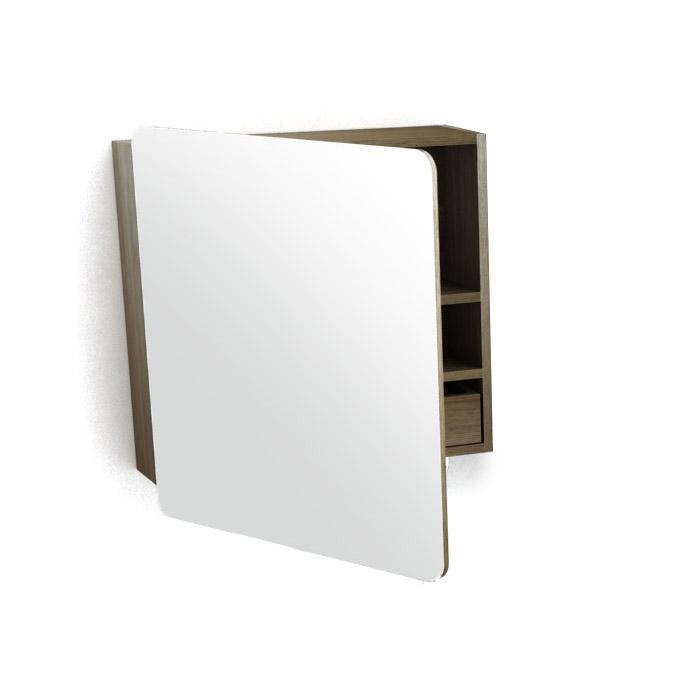 Armoire De Toilette Fairway En Bois Avec 1 Porte Et 1 Miroir