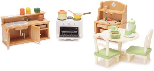 epoch sylvanian families 2951 set cuisine comparer avec. Black Bedroom Furniture Sets. Home Design Ideas