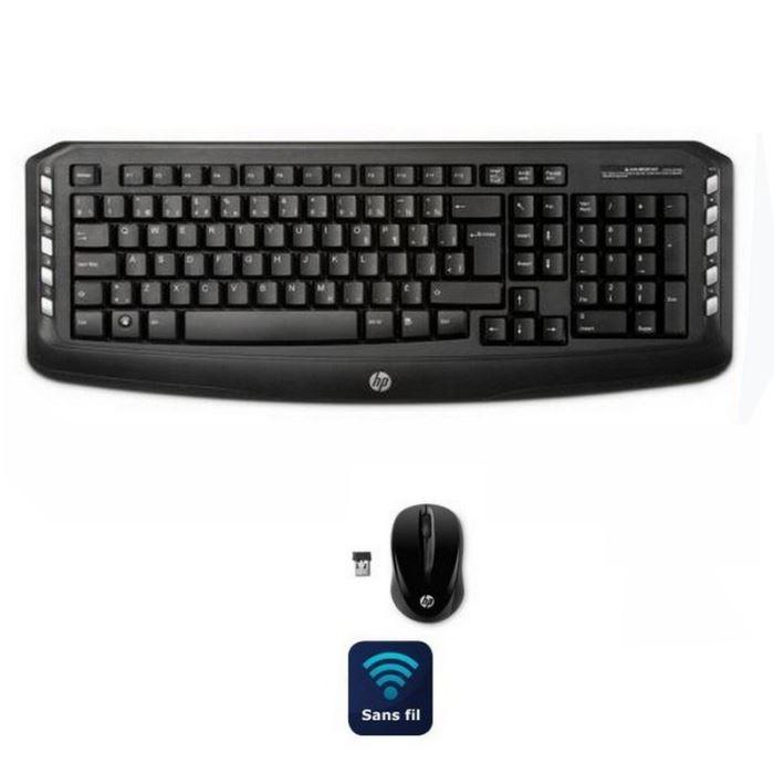 hp lv290aa clavier et souris sans fil 2 4ghz comparer avec. Black Bedroom Furniture Sets. Home Design Ideas