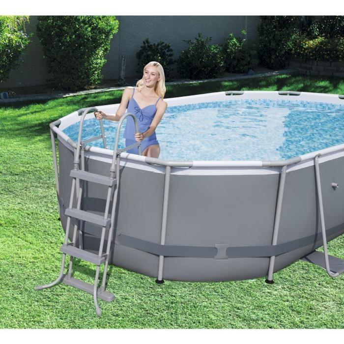 piscine tubulaire ovale power steel frame ovale