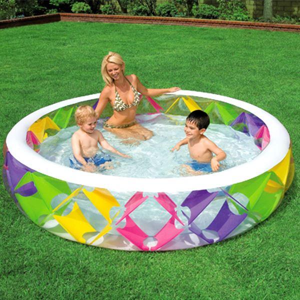 Intex piscine croisillons avec fond gonflable comparer for Piscine gonflable prix