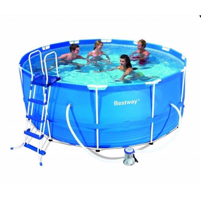 Bestway 56261 piscine tubulaire ronde 366 x 100 cm - Piscine tubulaire ronde pas cher ...