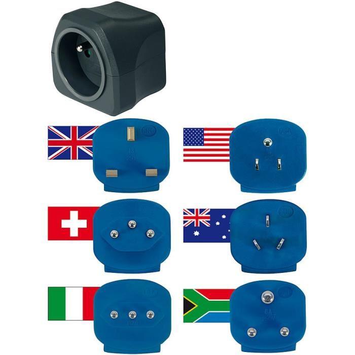 brennenstuhl 1508064 adaptateur secteur de voyage comparer avec. Black Bedroom Furniture Sets. Home Design Ideas