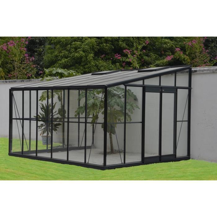Palram Serre de jardin d\'hiver adossable 12 m² en aluminium et verre ...