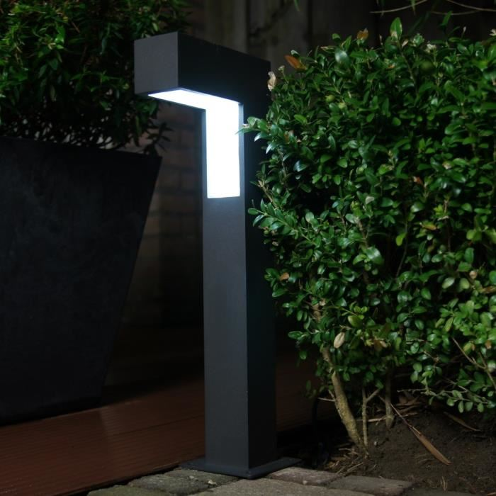 ranex potelet de jardin led porto en aluminium et plastique comparer avec. Black Bedroom Furniture Sets. Home Design Ideas