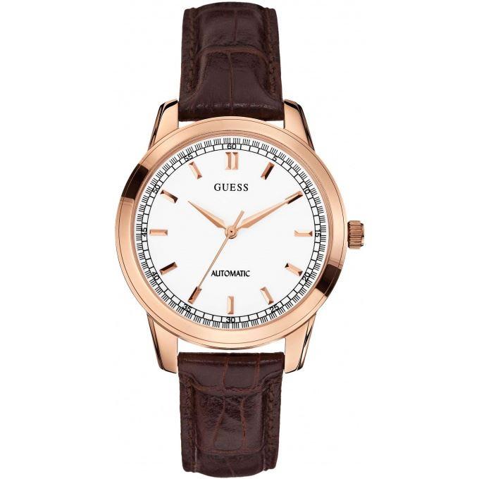 guess w0248g montre pour homme avec bracelet en cuir comparer avec. Black Bedroom Furniture Sets. Home Design Ideas