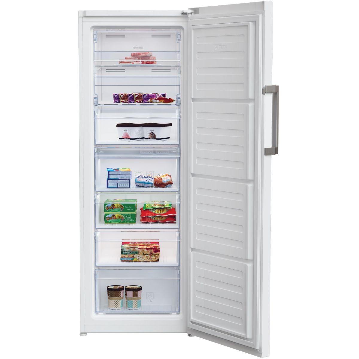 Beko rfne290e33w cong lateur armoire 255 litres comparer avec - Prix d un congelateur tiroir ...