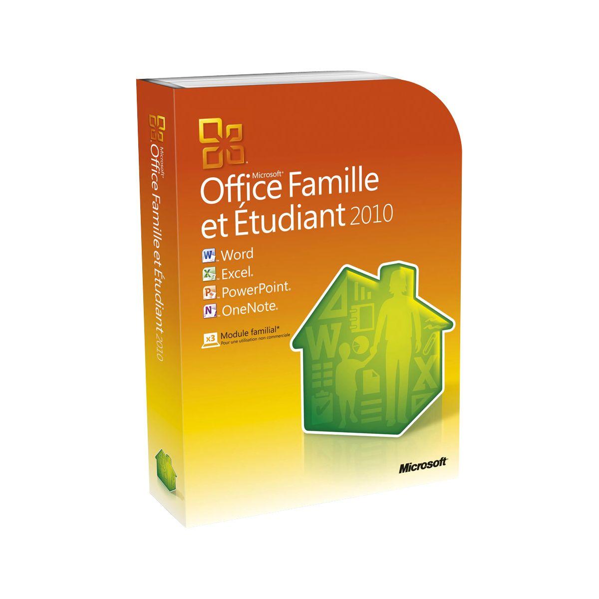 office famille et etudiant 2010 pour windows comparer avec. Black Bedroom Furniture Sets. Home Design Ideas