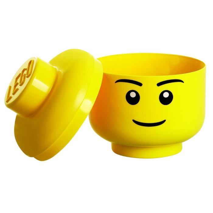 Lego bo te de rangement t te taille s 19 5 cm comparer avec touslesprix - Tete de rangement lego ...