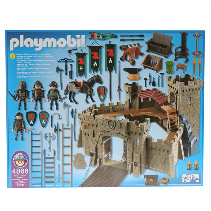 Playmobil 4866 forteresse des chevaliers du faucon for Plan chateau fort playmobil