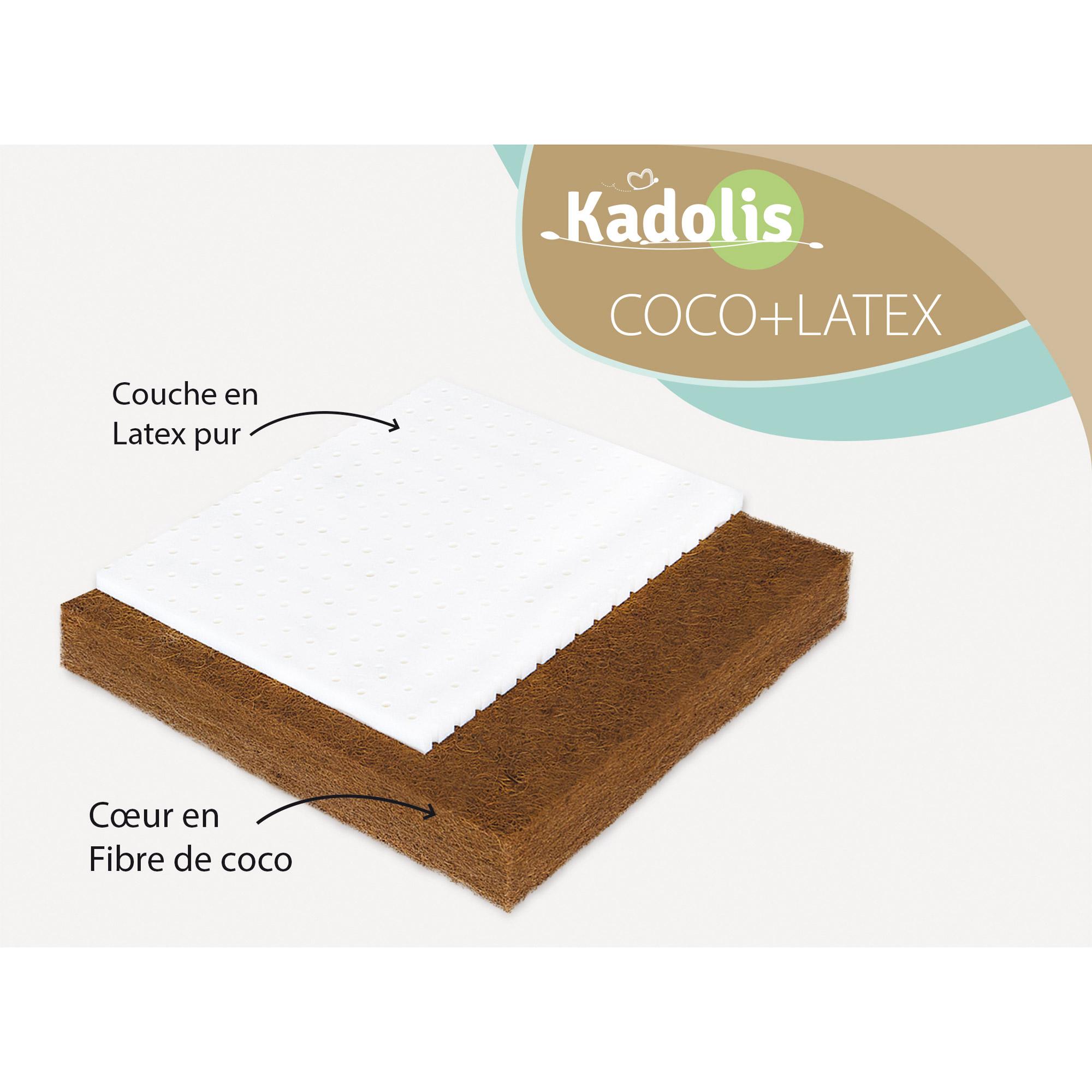 Kadolis Matelas Berceau Coco Latex 40 X 80 Cm Comparer Avec